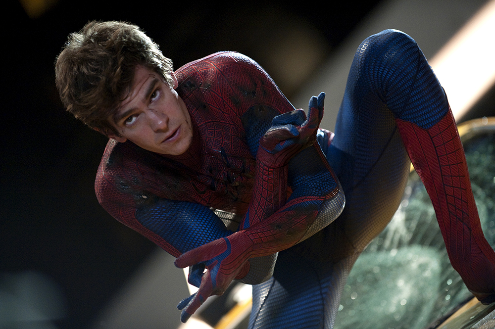 "In this film image released by Sony Pictures,  Andrew Garfield is shown in a scene from ""The Amazing Spider-Man, set for release on July 3, 2012. (AP Photo/Columbia - Sony Pictures, Jaimie Trueblood)"